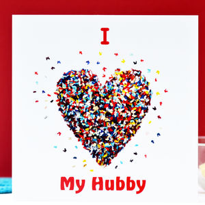 I Love My Hubby Valentines Card/ Anniversary Card - birthday cards