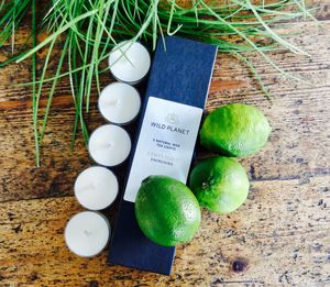Ten Aromatherapy Lime And Bergamot Tea Lights - table decoration