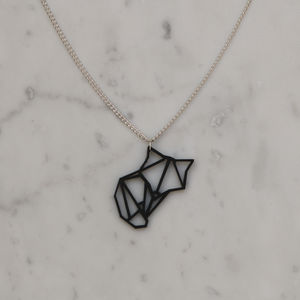 Origami Animal Geometric Fox Necklace - necklaces & pendants