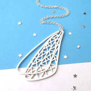 Geometric Wing Necklace - black friday sale