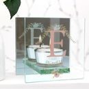 Personalised Monogram Tea Light Mirror Glass Holder
