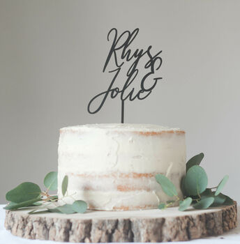 Contemporary Personalised Wedding Cake Topper