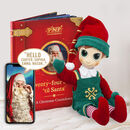 P.N.P Personalised Christmas Book And Boy Elf Gift Set
