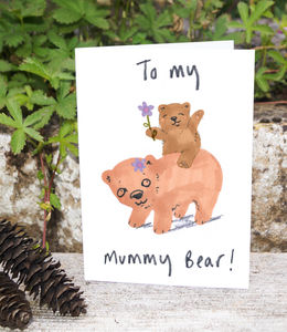 Mummy Bear Birthday Card - birthday cards