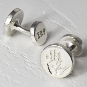 Silver Handprint And Footprint Cufflinks - cufflinks