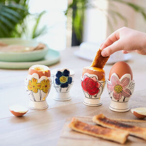 Molly Hatch Set Of Four Floral Egg Cup
