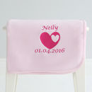 Personalised Heart Fleece Blanket