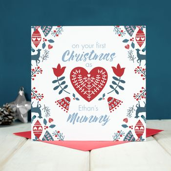 Personalised First Christmas As A Mummy Card