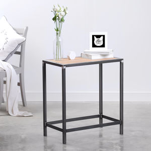 Reclaimed Wood And Steel Industrial Side Console Table - furniture