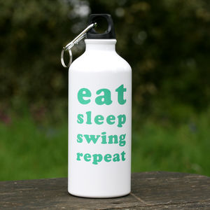 'Eat Sleep Swing Repeat' Golfer's Water Bottle