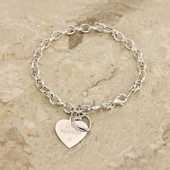 Personalised Heart Chain Bracelet