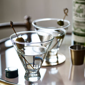 The Stemless Martini Glass, Set Of Four - best gifts for him
