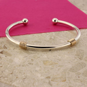 Serenade Silver And 9ct Gold Torq Bangle - what's new