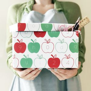 Apple Letters And Numbers Wrapping Paper Set