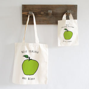 Personalised Apple For Teacher Bag - shopper bags
