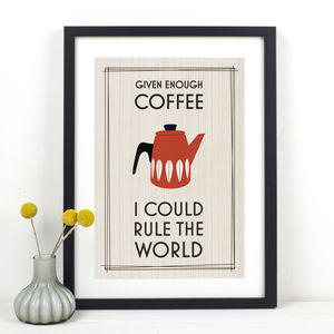 Retro Coffee Print - gifts for foodies
