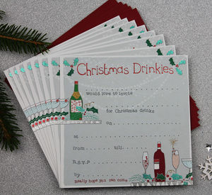 Christmas Party Invites Pack Of Eight - cards