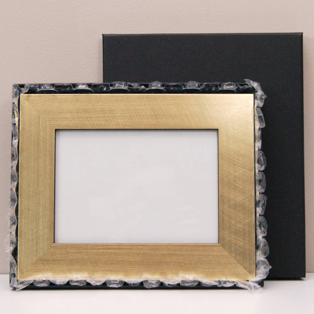 Personalised Gold 50th Wedding Anniversary Photo Frame By Urban