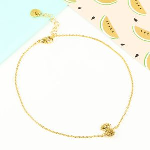 Delicate Tiny Pineapple Anklet