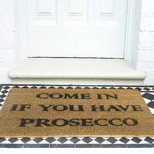 Prosecco Door Mat - dining room