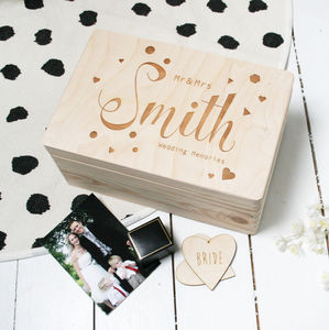 Personalised Wooden Wedding Memory Box - sale by category