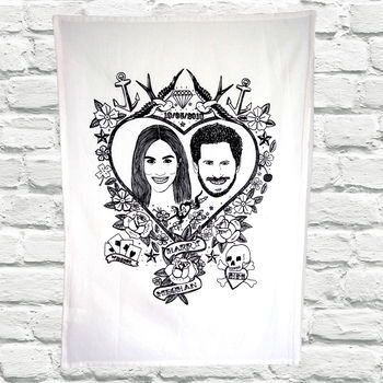 Royal Wedding Harry And Meghan Tea Towel