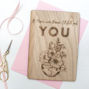 'If Mum's Were Flowers' Keepsake Postcard - home accessories