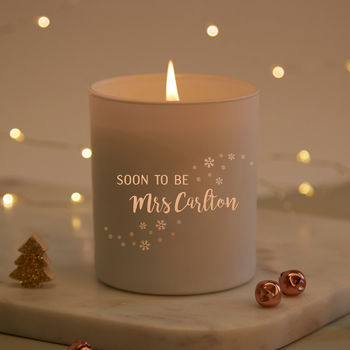 Fiancee Christmas Gift Mrs To Be Candle