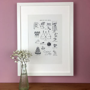 Personalised Wedding Day Memories Illustration Print - brand new sellers