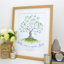 Entwined Fingerprint Tree Guest Book