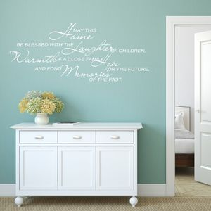 May This Home Be Blessed Wall Sticker - wall stickers