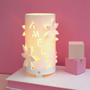 Personalised Flower Night Light Ideal New Baby Gift - children's room accessories