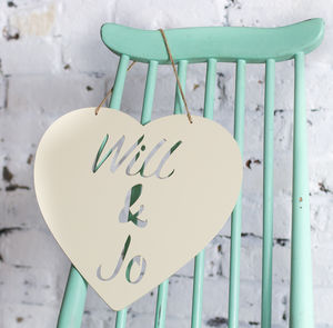 Personalised Engagement Love Heart Metal Sign - outdoor decorations