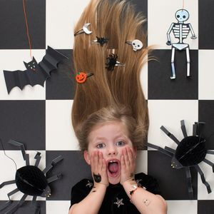 Pack Of Five Felt Halloween Hair Pins - hair accessories