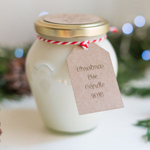 Christmas Eve Handcrafted 50 Hour Soy Jar Candle - candles & candlesticks