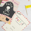 Girls Pirate Birthday Party Invitations
