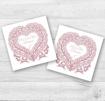 I Or We Love You Mummy Or Mum Card