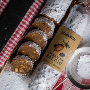 Peanut And Cornish Sea Salt Caramel Chocolate Salami - chocolates & confectionery