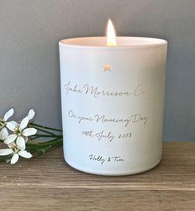 Personalised Naming Day Candle
