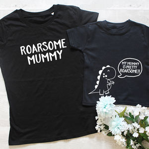 'Roarsome Mummy' Mum And Child Twinning Set