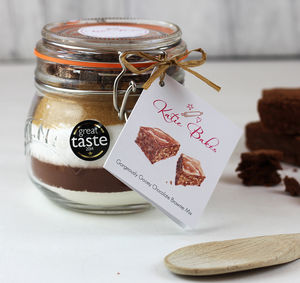 'Gorgeously Gooey' Chocolate Brownie Baking Mix Jar - make your own kits