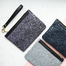 Stardust Glitter And Leather Clutch Bag