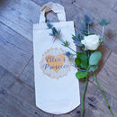 Personalised Prosecco Cotton Bottle Bag
