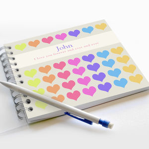 Heart Notebook - personalised