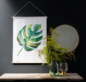 Lush Botanical Wall Hanging - canvas prints & art