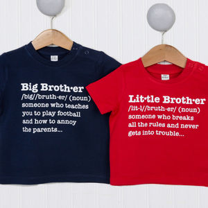 Brothers Definition T Shirt Set - clothing