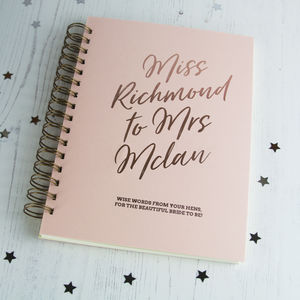 Personalised Hen Do Book Miss To Mrs