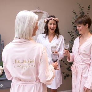 Personalised Wedding Dressing Gown For A Bridesmaid