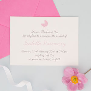 Personalised Birth Announcements - new baby & christening cards