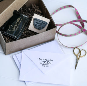 Wedding Gift Address Stamp - diy & craft